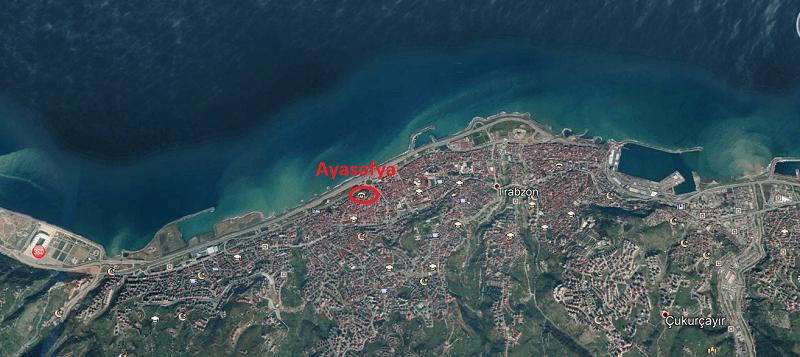 Trabzon Ayasofya Konum